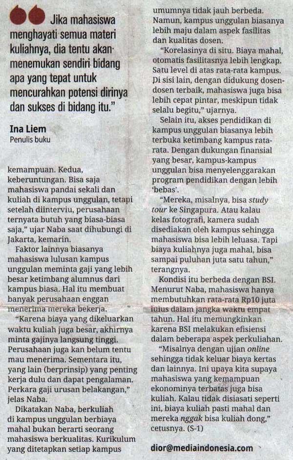 Media Indonesia - Jurusan Unggulan p3